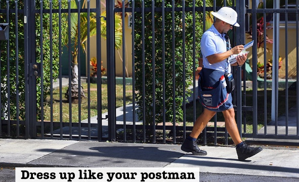 dress up like your postman