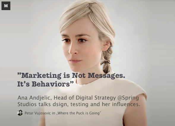 """Marketing is not messages, it's behaviours."""