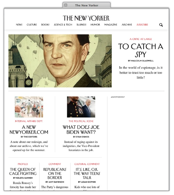 Launch of redesigned New Yorker magazine