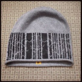 Birch Forest #birchforest #stenciled #silhouette #graffitibeanie