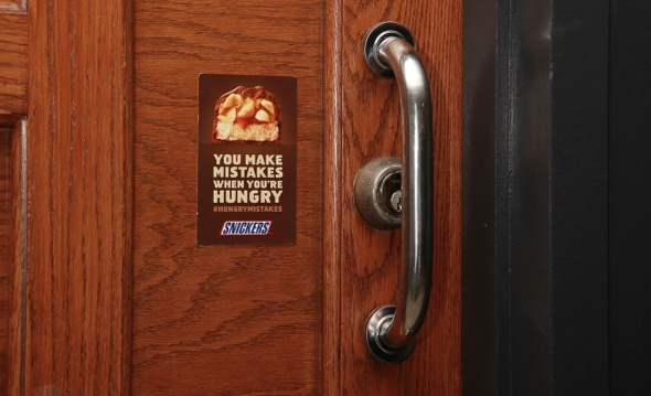 snickers sticker via adweek