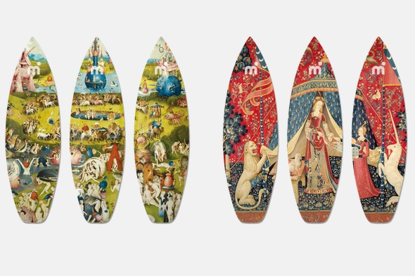 Bosch and Renaissance Boom Art surf decks