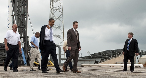 Elon Musk gives tour for President Barack Obama by Bill Ingalls