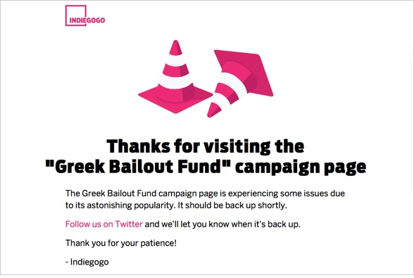 Indiegogo Greek Bailout Fund s3 Amazonaws