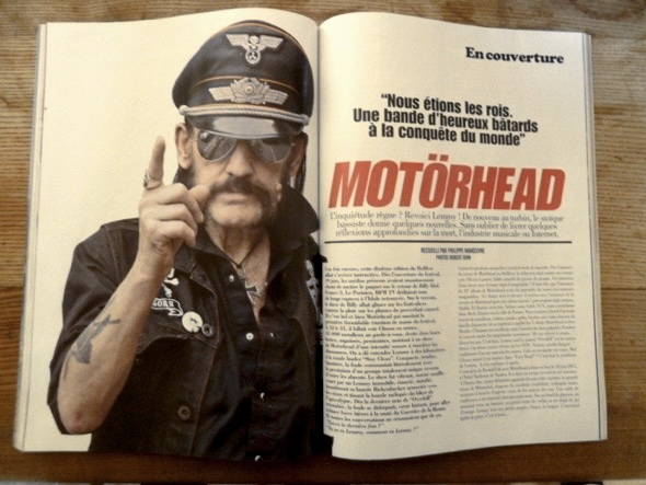 Interview with Lemmy Kilmister in french music mag Rock Folk