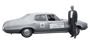 1972 | Spurred by federal incentives attached to the Clean Air Act of 1970, engineer Victor Wouk modifies a 1972 Buick Skylark to make it a gas-electric hybrid. The government awards him $33,000 for the design but doesn't take the idea further. COURTESY OF EPA.GOV