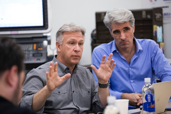 Phil Schiller, SVP of Apple's worldwide marketing  and Craig Federighi, SVP of Software Engineering