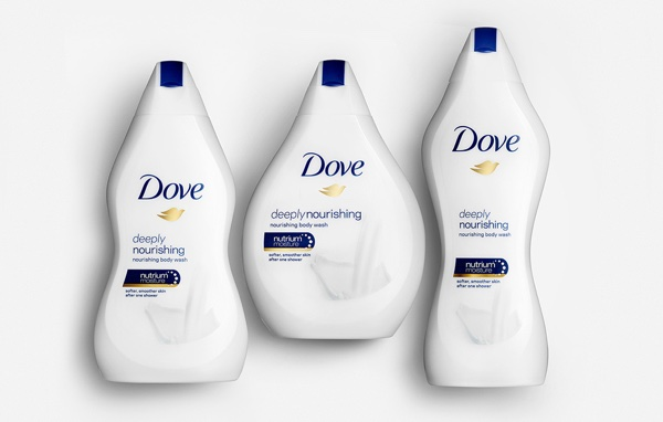 Dove Body Wash bottles
