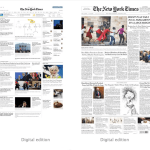 Pixel and print edition of the New York Times.
