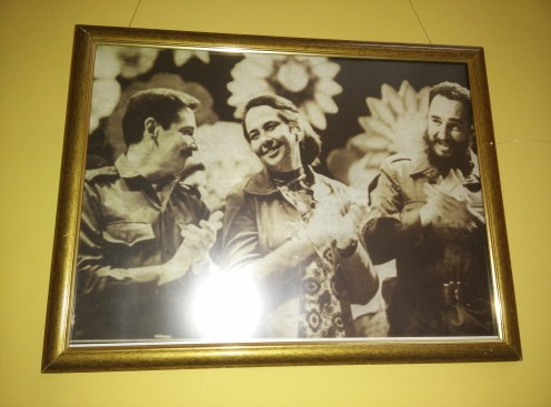 Raul Castro, Celia Sanchez and Fidel Castro