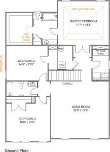 Parker Floor-Plan Second Floor