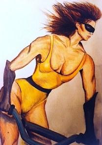 Biker Chic/marker & watercolor