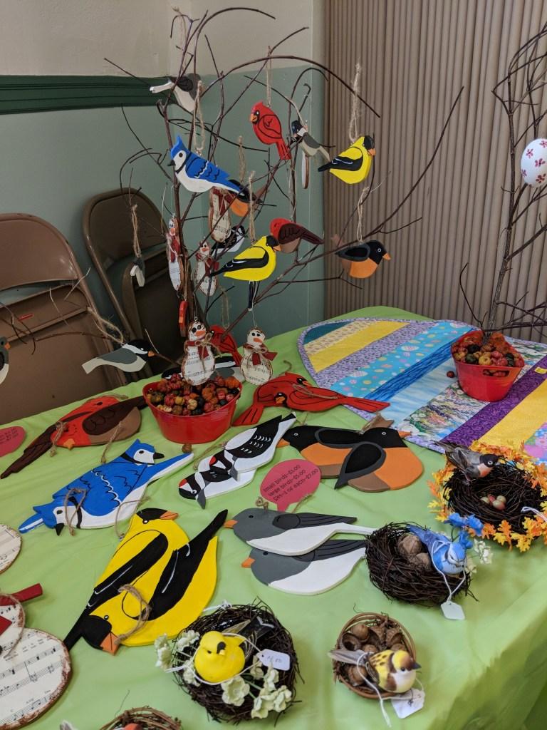 Newark FUMC 2018 Spring Bazaar Wooden Birds