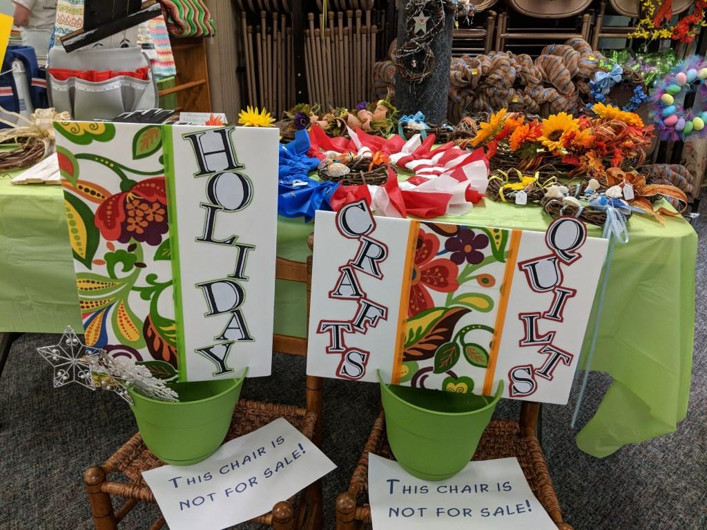 Newark FUMC 2018 Spring Bazaar Crafts #1
