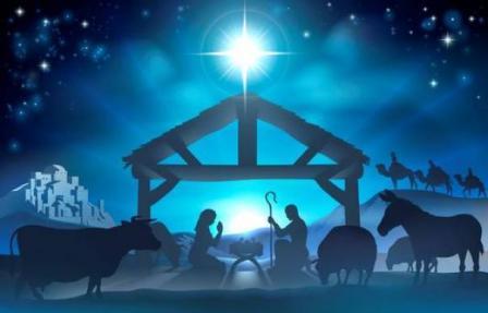 newark FUMC Christmas manger