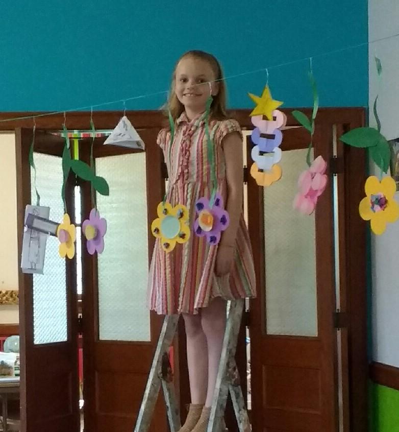 Abby at Sunday School