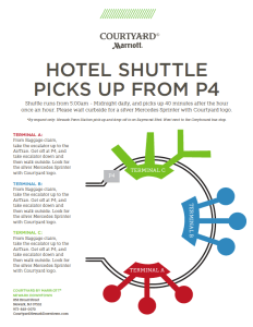 Courtyard Marriott Hotel Shuttle pickup