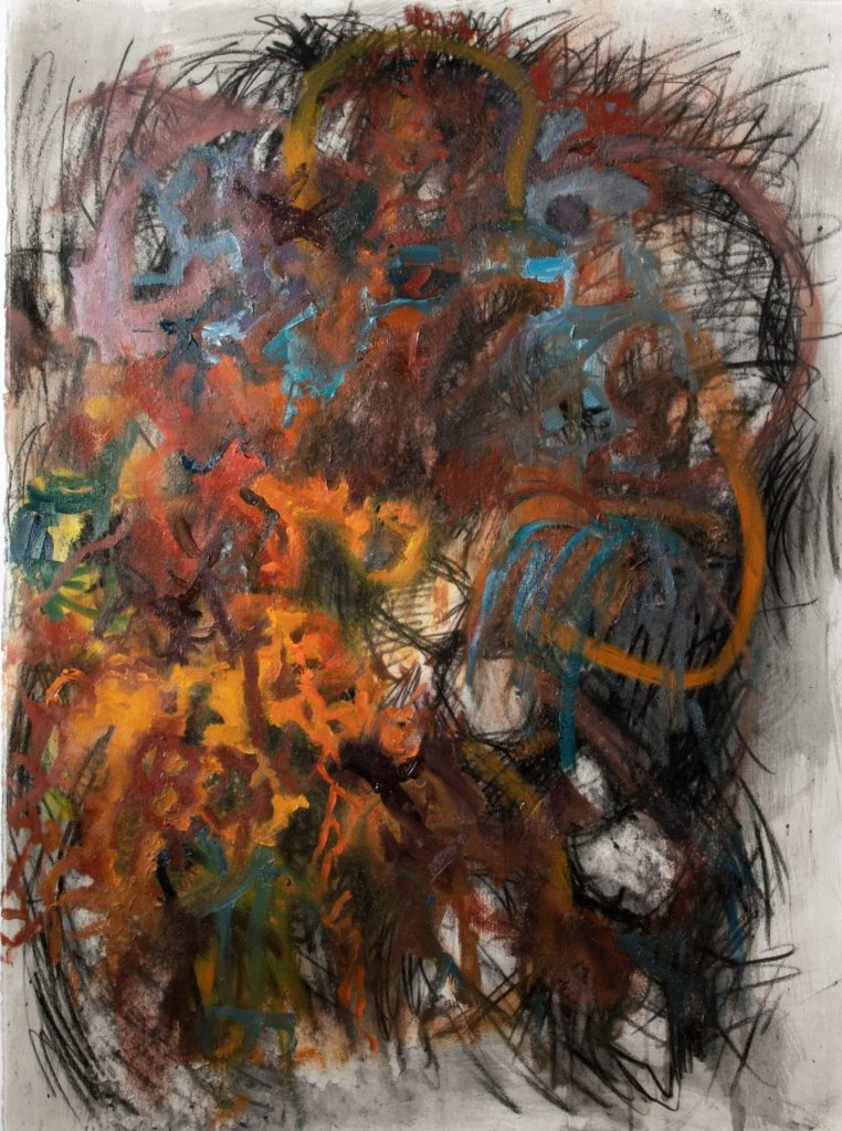 Tracy Hayes, A Dissolution Into Nothing Charcoal, acrylic and oil on paper