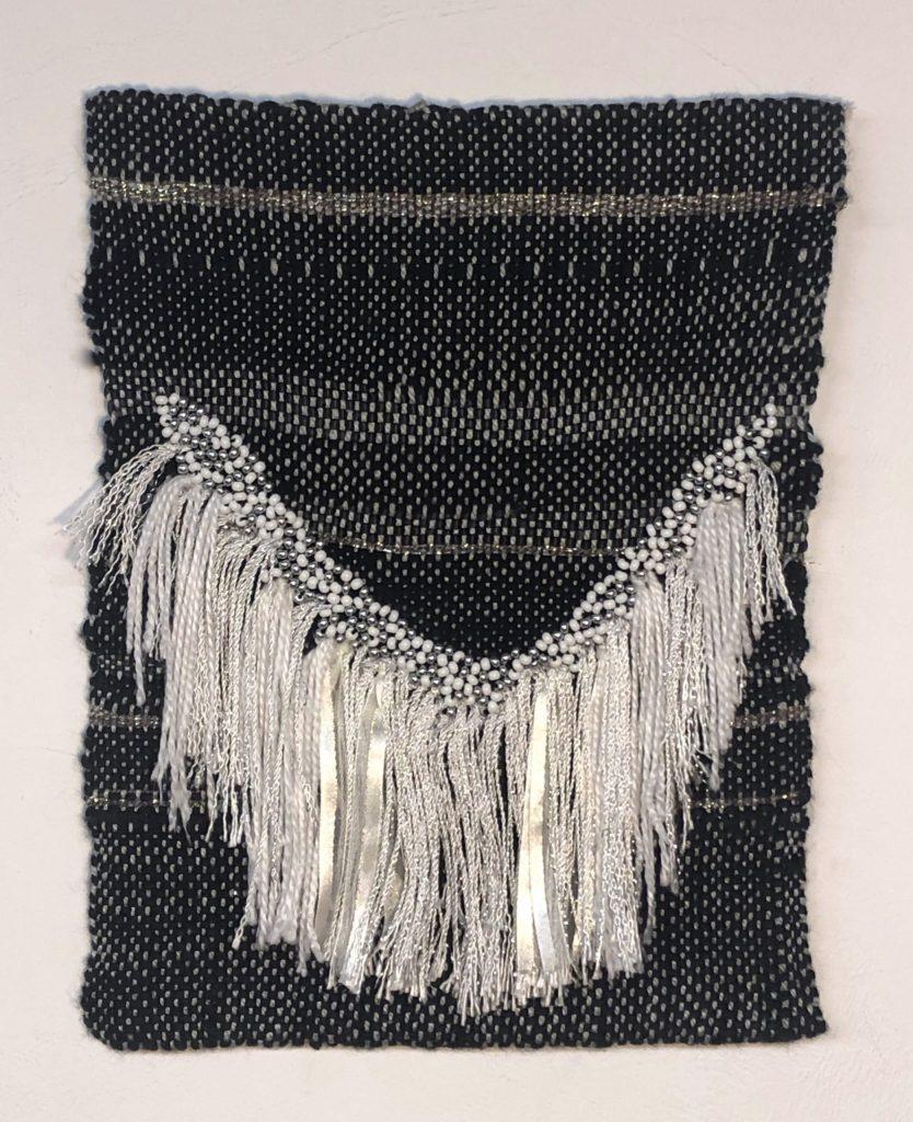 Lauren Comerato's RGB 1 Cotton, linen, ribbon and beads