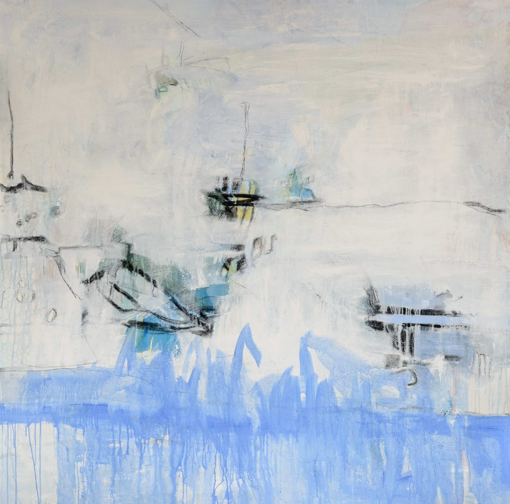 Katherine Downey Miller's Lake Acrylic and mixed media on canvas