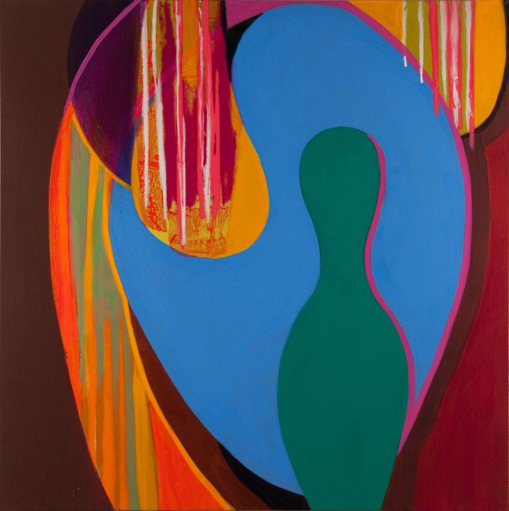 Diane Novetsky's Speak No Evil Acrylic on canvas