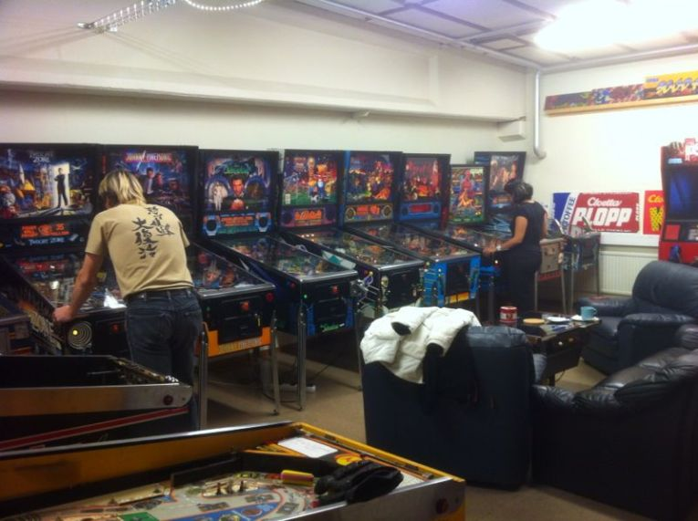 The pinball wall at MAH