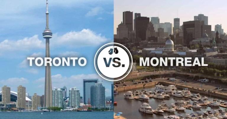 toronto vs montreal
