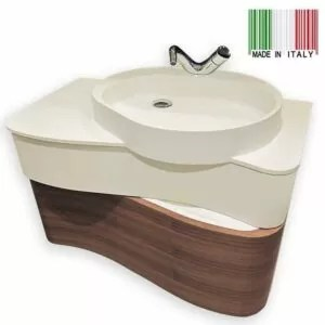 36inch ONDA WALL-MOUNTED BATHROOM VANITY GB GROUP ON-36-MWV-2