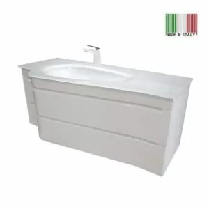 48-Inch Modern Bathroom Vanity Slalom Glossy White Made in Italy SM-GW-48_