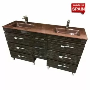 60 Inch YANE Deluxe Euro line Bathroom Vanity Bellezza Made in Spain