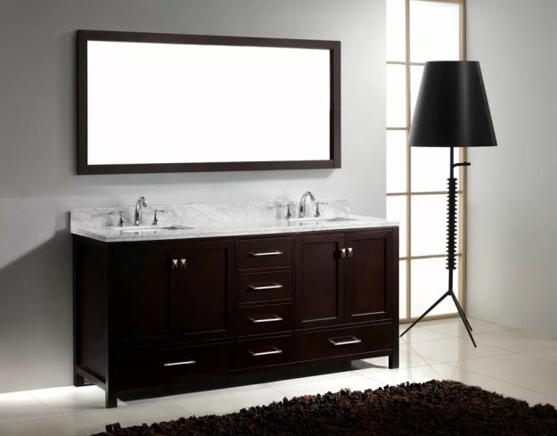 virtu usa 72 inch caroline avenue bathroom vanity in espresso white