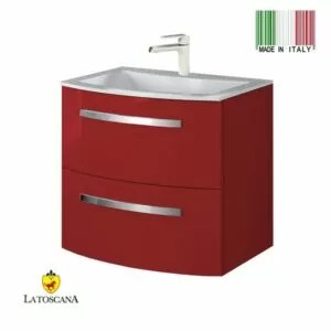 LaToscana 22Inch PALITO Modern Bathroom Vanity Red PA22OPT1R