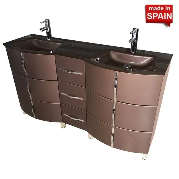 60-inch krom double bathroom vanity color metal brum - newbathroomstyle
