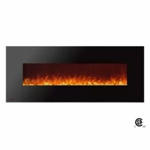 Royal Series - Electric Wall Mount Fireplace with Pebbles - 60 inch