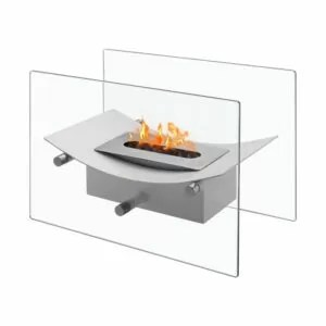 Verona White Series - Ventless Tabletop Ethanol Fireplace