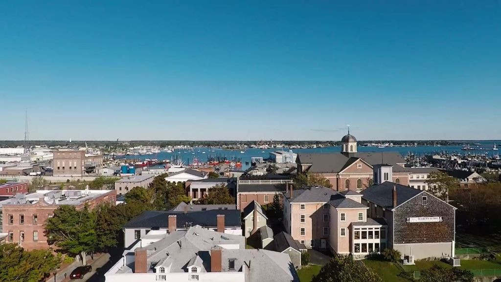 Aerial view of New Bedford