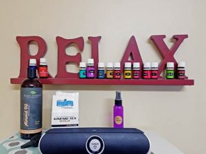 Relax Sign with Essential Oils