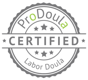 ProDoula Certified Labor Doula badge