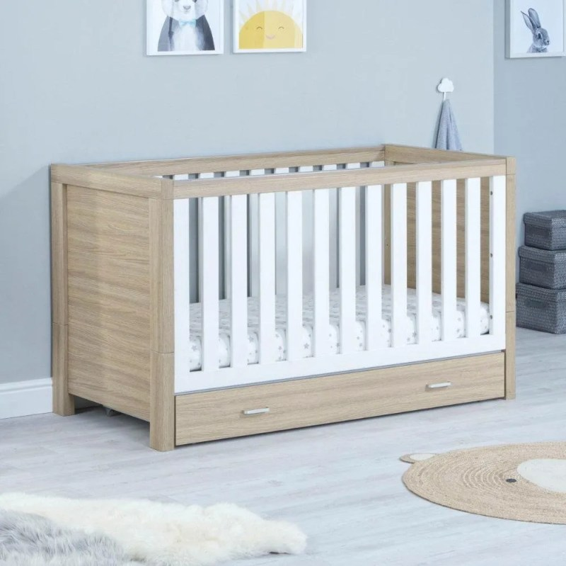 Babymore - Luno Cot Bed with Underdrawer
