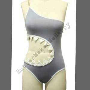 ostomy costume for halloween - shark bathing suit from buttermakesmehappy on Etsy