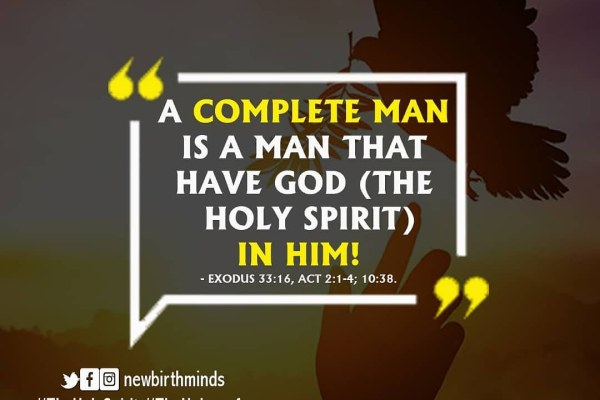 ROLE OF THE HOLY SPIRIT  AS THE HELPER OF MEN