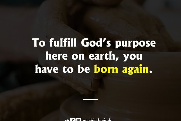 TFT: TO FULFILL GOD'S PURPOSE HERE ON EARTH, YOU HAVE TO BE BORN AGAIN.