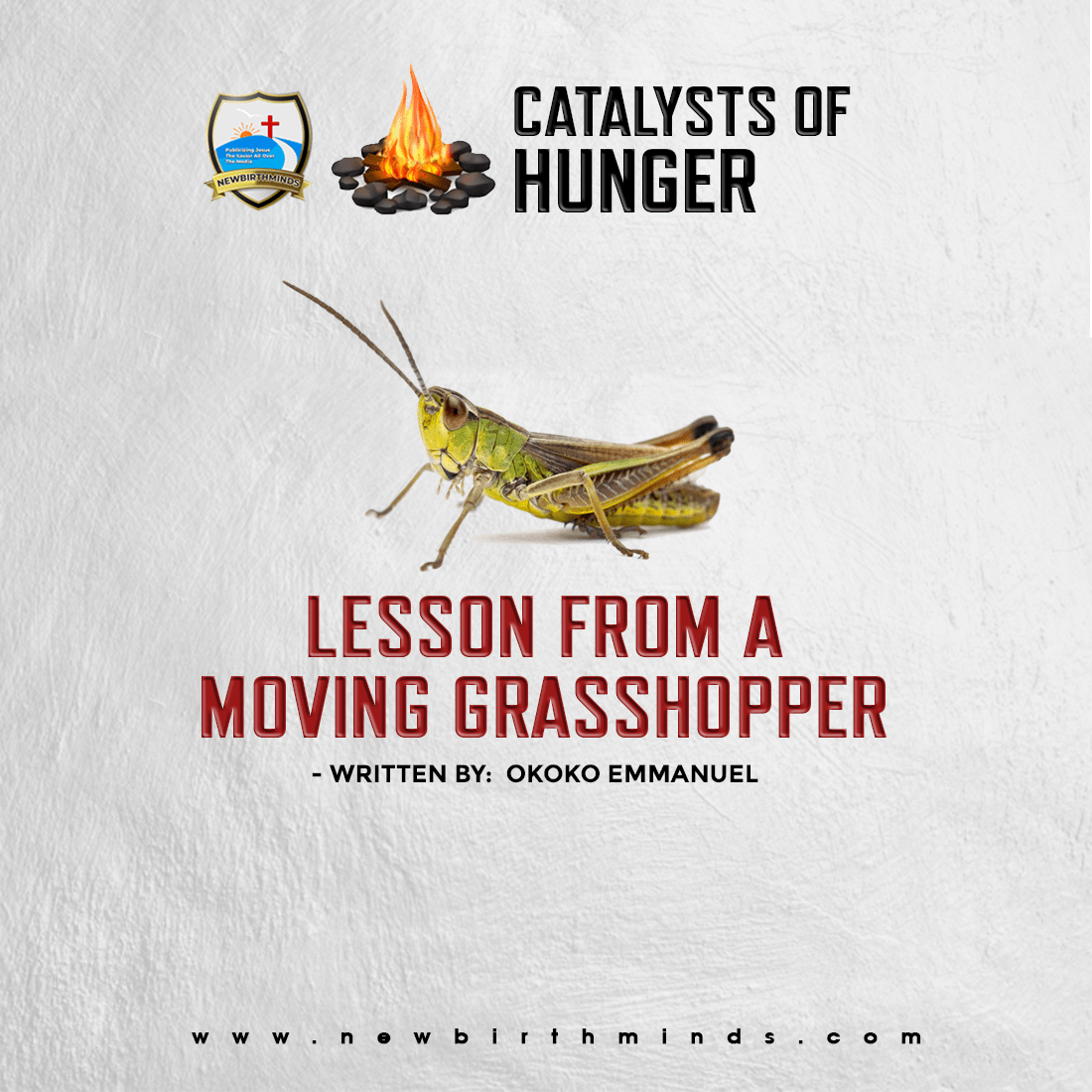 LESSON FROM A MOVING GRASSHOPPER