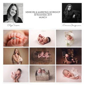 Newborn Photography Marketing Workshop Carmen Bergmann Studio Munich by Olga Vuscan and Carmen Bergmann