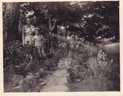 Brook Farm orphans in the garden