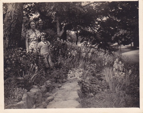 Brook Farm orphans in the garden