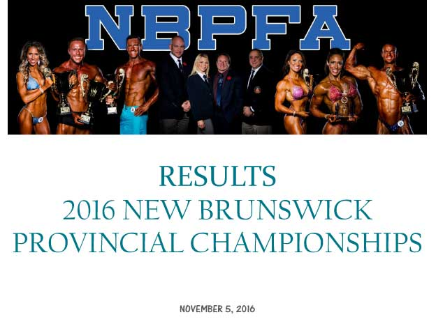 2016 NB Provincial Championships