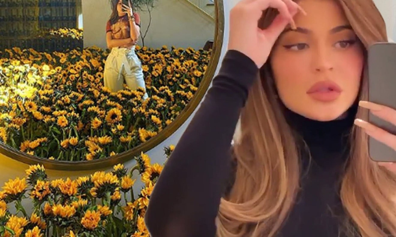 Kylie Jenner Has A 'New Vibe,' Covers Her House With Sunflowers