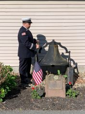 Captain Brandon Ivone rings the bell in memory of all departed Firefighters