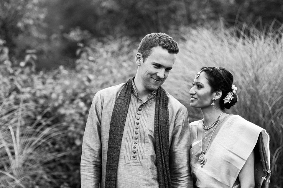 classic black and white portraits first look wedding